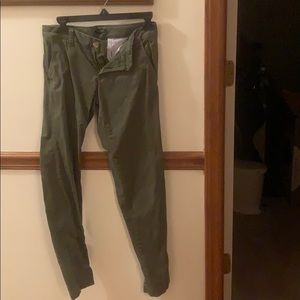 Tommy Hilfiger, Size 0, Green Slacks